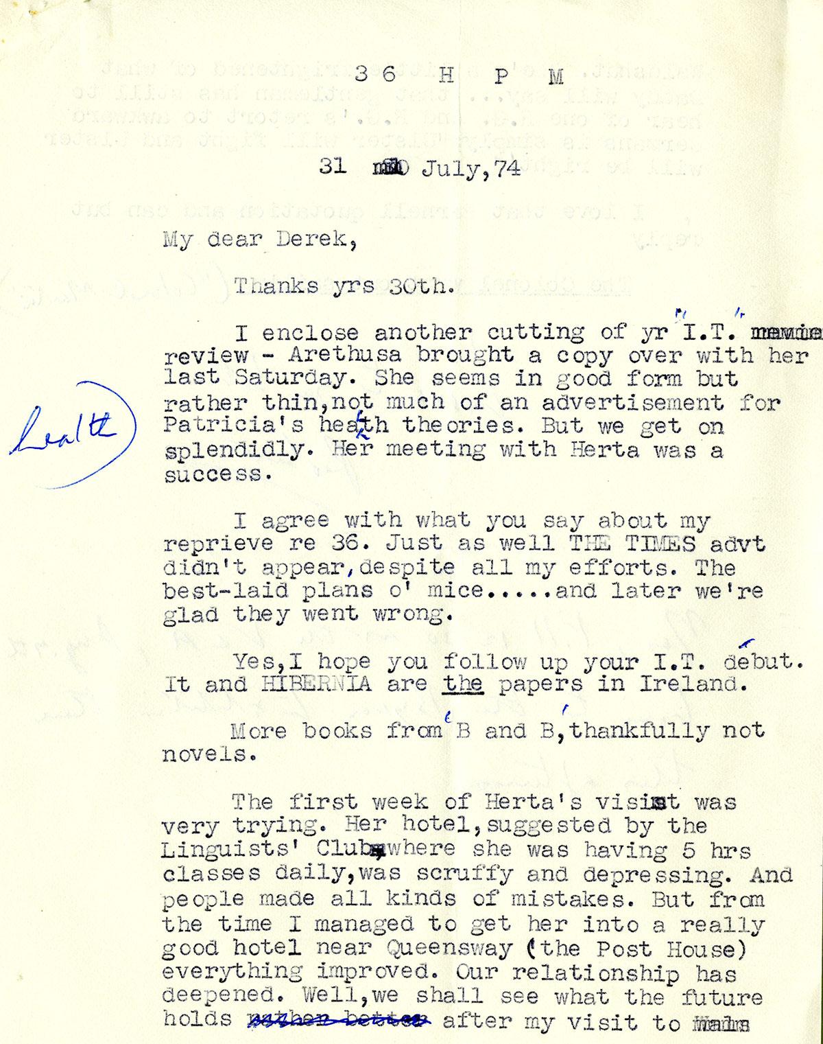 GreacenStanford001 Letters to Stanford Greacen Estate 1970 ...